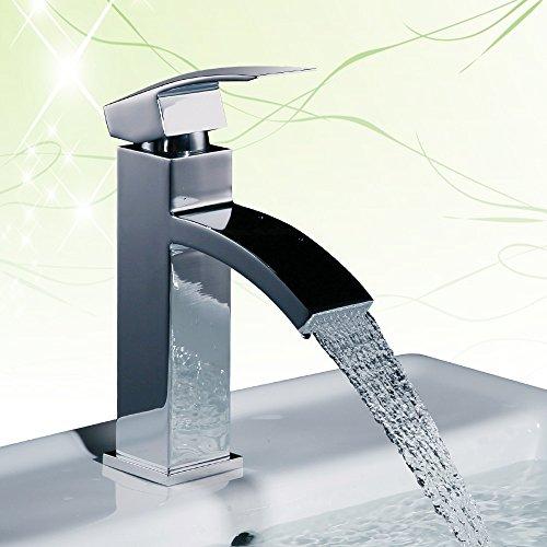 Homelody chrom wasserfall armatur bad wasserhahn einhebel - Armatur wasserfall ...