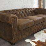 Invicta Interior 17382 Chesterfield Sofa 3-er, Antik Look