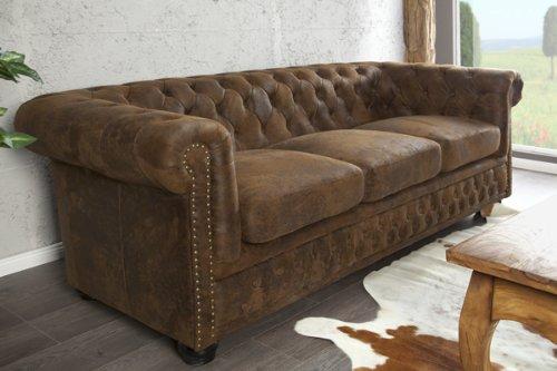 invicta interior 17382 chesterfield sofa 3 er antik look m bel24. Black Bedroom Furniture Sets. Home Design Ideas