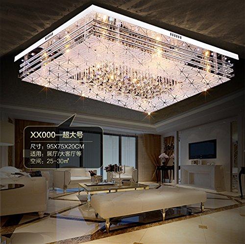 jj moderne led deckenleuchte rechteckige led licht atmosph re crystal flur schlafzimmer. Black Bedroom Furniture Sets. Home Design Ideas