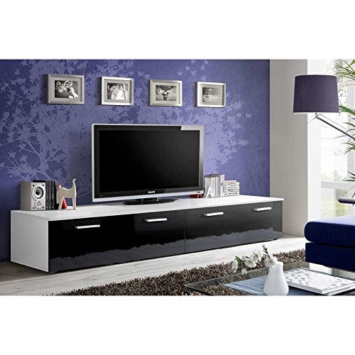 justhome dio lowboard tv board fernsehtisch hxbxt 37x200x45 cm gro e farbauswahl m bel24. Black Bedroom Furniture Sets. Home Design Ideas