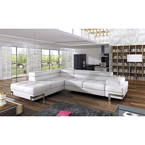 justhome emporio ecksofa eckcouch mit bettkasten schlafcouch kunstleder bxlxh 223x275x70 90. Black Bedroom Furniture Sets. Home Design Ideas