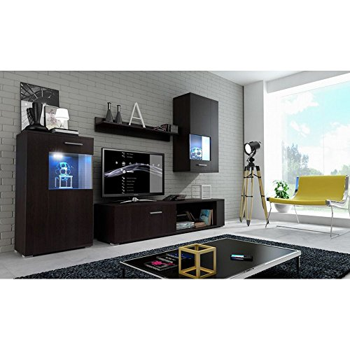 justhome foxy wohnwand anbauwand schrankwand gro e farbauswahl m bel24. Black Bedroom Furniture Sets. Home Design Ideas