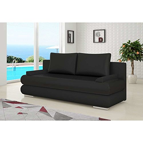 justhome milo einzelsofa sofa schlafsofa kunstleder kunstleder bxlxh 95x205x90 cm gro e. Black Bedroom Furniture Sets. Home Design Ideas