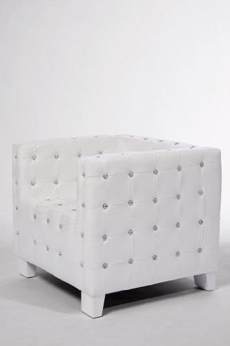 Kare Sessel Shining Cube Lederimitat Wei M Bel24