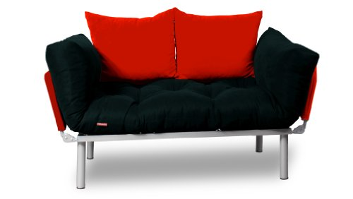 kombin schlafsofa schwarz rot m bel24. Black Bedroom Furniture Sets. Home Design Ideas