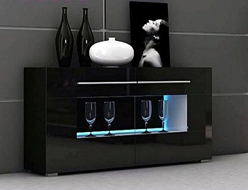 kommode kln wohnzimmerschrank sideboard mit led. Black Bedroom Furniture Sets. Home Design Ideas