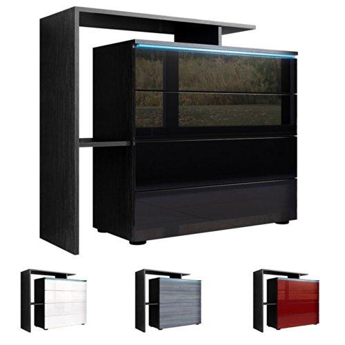 kommode sideboard lissabon v2 schwarz m bel24. Black Bedroom Furniture Sets. Home Design Ideas