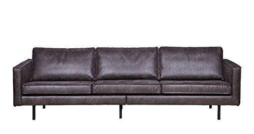 ledersofa rodeo 3 sitzer schwarz vintage patina echtleder. Black Bedroom Furniture Sets. Home Design Ideas