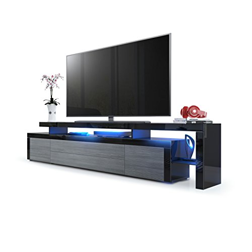 tv board schwarz tv board beta lowboard schwarz echt. Black Bedroom Furniture Sets. Home Design Ideas