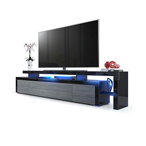 leon v3 tv board schwarz moebel24 online. Black Bedroom Furniture Sets. Home Design Ideas