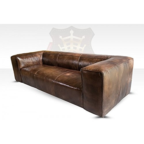 lounge sofa tribeca 3 sitzer leder antique whisky. Black Bedroom Furniture Sets. Home Design Ideas