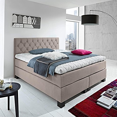 luxus boxspringbett rockstar capiton 9cm topper welcon. Black Bedroom Furniture Sets. Home Design Ideas