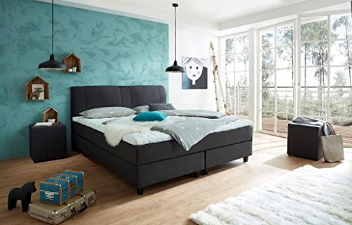 luxus boxspringbett rockstar convex welcon 140x200 22. Black Bedroom Furniture Sets. Home Design Ideas