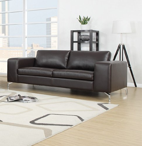 madison 2er sofa pellissima braun kunstleder couch m bel24. Black Bedroom Furniture Sets. Home Design Ideas