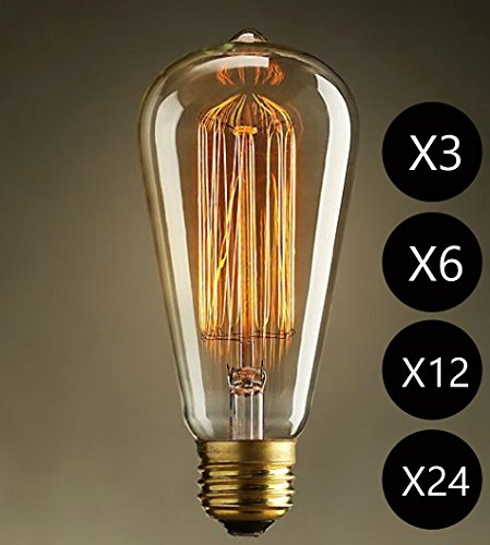 pack 1 3 6 12 24 edison vintage lampe squirrel cage. Black Bedroom Furniture Sets. Home Design Ideas