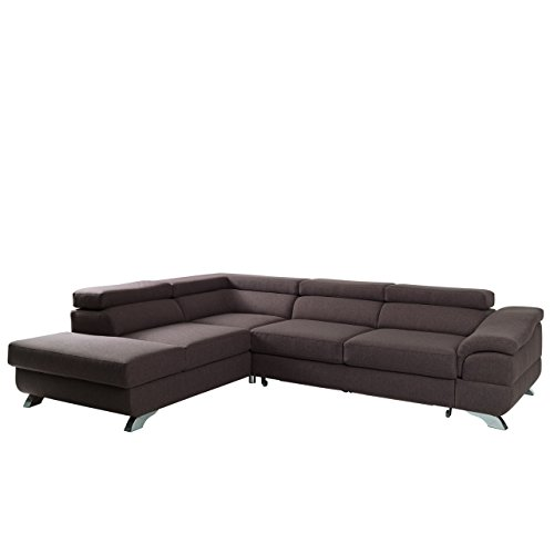 polsterecke lagos ecksofa eckcouch mit bettkasten und schlaffunktion einstellbare kopfst tzen. Black Bedroom Furniture Sets. Home Design Ideas