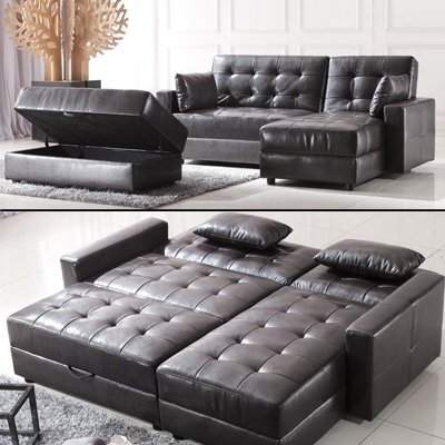 polsterecke lederfaserstoff ecksofa eckcouch despina. Black Bedroom Furniture Sets. Home Design Ideas