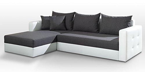polsterecke sofa aron mit schlaffunktion schlafsofa schlafcouch kunstleder webstoff bettfunktion. Black Bedroom Furniture Sets. Home Design Ideas
