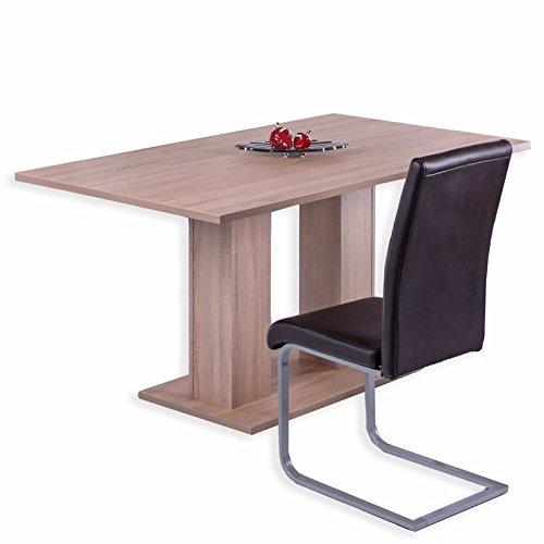 roller esstisch regina sonoma eiche 160x90 cm m bel24. Black Bedroom Furniture Sets. Home Design Ideas