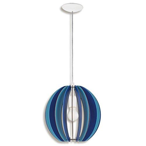 roller pendelleuchte blau holzschirm 0 m bel24. Black Bedroom Furniture Sets. Home Design Ideas