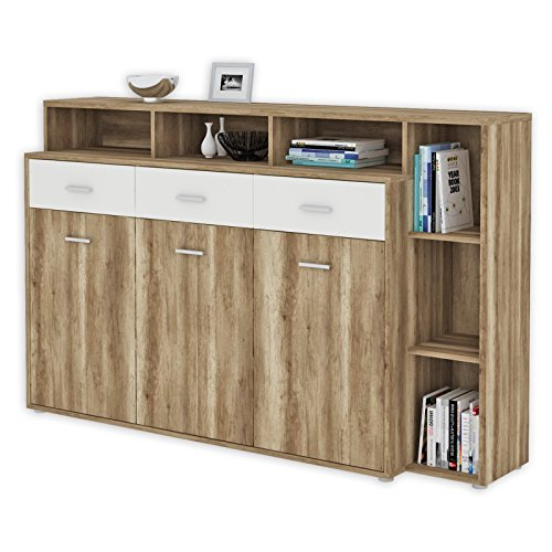 roller sideboard julia eiche antik wei 174 cm breit 0 m bel24. Black Bedroom Furniture Sets. Home Design Ideas