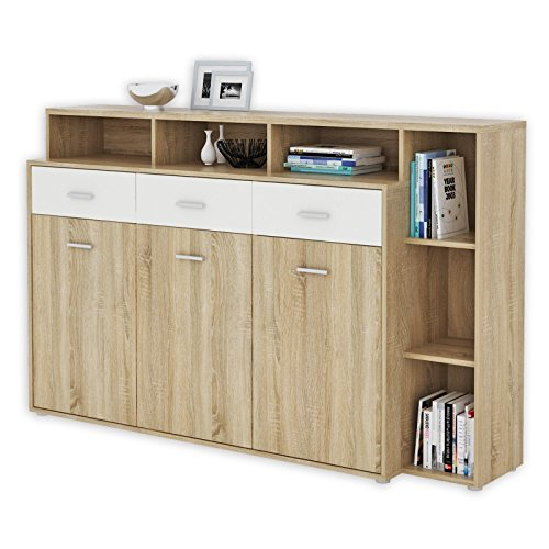roller sideboard julia sonoma eiche wei 174 cm breit m bel24. Black Bedroom Furniture Sets. Home Design Ideas