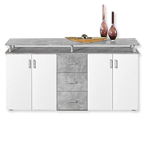 sideboard lift beton wei 178 cm m bel24. Black Bedroom Furniture Sets. Home Design Ideas