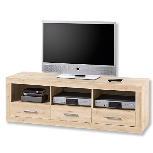 roller tv lowboard can can edelbuche 147 cm breit 0 m bel24. Black Bedroom Furniture Sets. Home Design Ideas