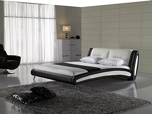 sam design polster bett swinger in schwarz wei modernes design pflegeleichte oberfl che. Black Bedroom Furniture Sets. Home Design Ideas