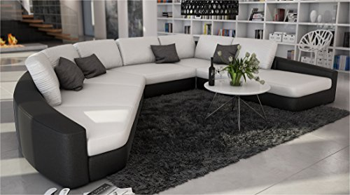 Sam sofa garnitur in wei schwarz domencia designed by for Wohnlandschaft 380 cm