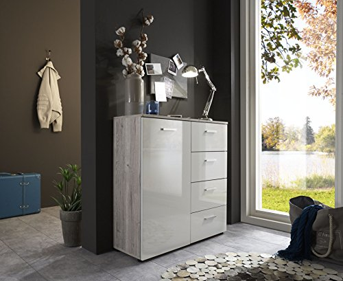 schubladen kommode sideboard anrichte marbella in. Black Bedroom Furniture Sets. Home Design Ideas