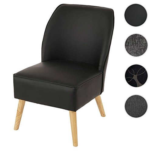 sessel malm t312 loungesessel polstersessel retro 50er jahre design schwarz leder m bel24. Black Bedroom Furniture Sets. Home Design Ideas