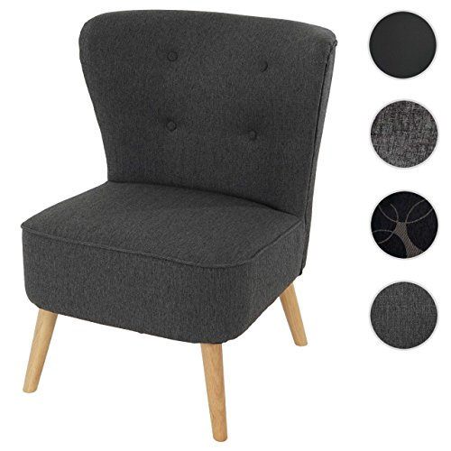 sessel malm t313 loungesessel polstersessel retro 50er jahre design anthrazit textil m bel24. Black Bedroom Furniture Sets. Home Design Ideas