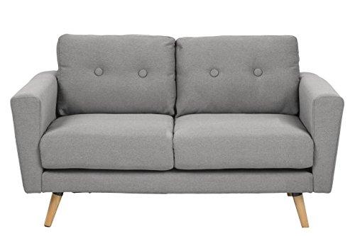 sofa 2 sitzer 137 x 87 x 80 polstersofa wohnzimmer stoff couch grau skandinavisches design. Black Bedroom Furniture Sets. Home Design Ideas