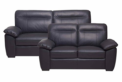 sofa anol 3 sitzer in schwarz couch ledersofa m bel24. Black Bedroom Furniture Sets. Home Design Ideas