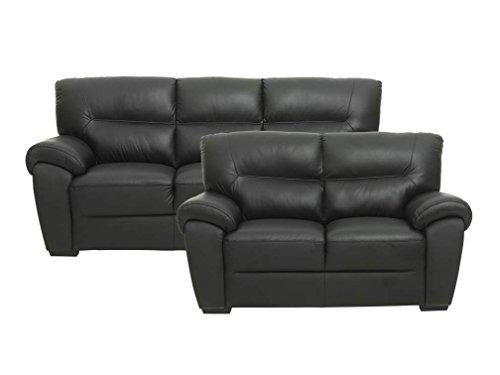 sofa bamo 3 sitzer in schwarz couch ledersofa m bel24. Black Bedroom Furniture Sets. Home Design Ideas