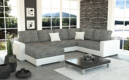 sofa couchgarnitur couch sofagarnitur sty 4 u polstergarnitur polsterecke wohnlandschaft mit. Black Bedroom Furniture Sets. Home Design Ideas