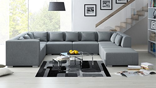 sofa couchgarnitur couch sofagarnitur supermax 8 teile in. Black Bedroom Furniture Sets. Home Design Ideas