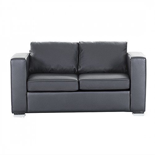 sofa schwarz couch ledersofa ledercouch lounge echtleder 2. Black Bedroom Furniture Sets. Home Design Ideas