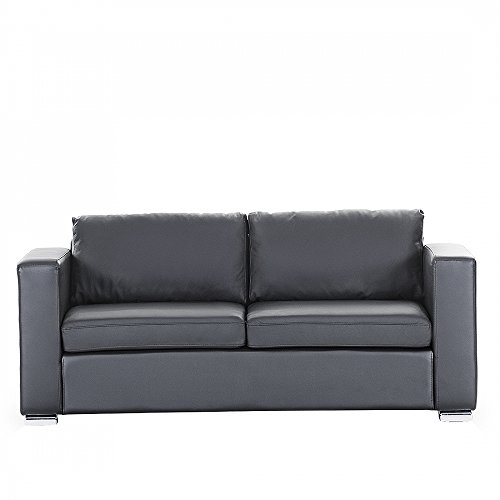 sofa schwarz couch ledersofa ledercouch lounge. Black Bedroom Furniture Sets. Home Design Ideas