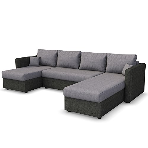 sofa mit schlaffunktion wohnlandschaft couch schlafsofa bettfunktion polsterecke 0 1 m bel24. Black Bedroom Furniture Sets. Home Design Ideas