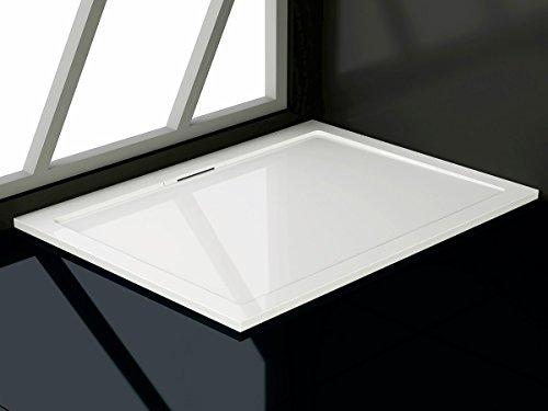 soho duschtasse aus mineralguss rechteckig 80 90 80 100 90 120 90 140 cm duschwanne m bel24. Black Bedroom Furniture Sets. Home Design Ideas