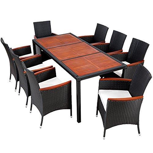 polyrattan gartenm bel 27 tlg rattan gartenset essgruppe. Black Bedroom Furniture Sets. Home Design Ideas