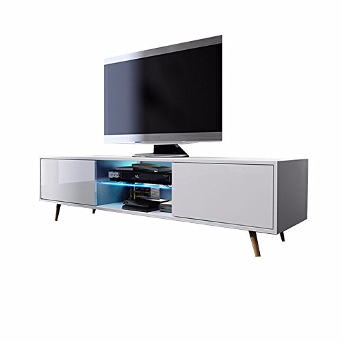 tv schrank lowboard sideboard tisch mbel board rivano mit led beleuchtung 0 m bel24. Black Bedroom Furniture Sets. Home Design Ideas
