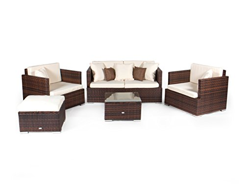 vanage gartenm bel set melbourne in rattanoptik polyrattan lounge m bel f r garten balkon. Black Bedroom Furniture Sets. Home Design Ideas