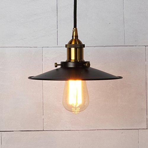 vintage pendelleuchte elfeland retro industrielle deckenleuchte loft lampe eisen lampenschirm. Black Bedroom Furniture Sets. Home Design Ideas