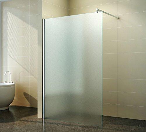 walk in duschabtrennung vollsatiniert milchglas. Black Bedroom Furniture Sets. Home Design Ideas