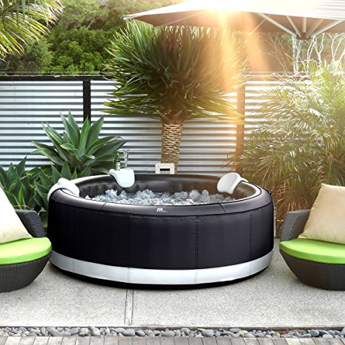 Whirlpool In-Outdoor Pool Bubble Spa Wellness Massage Heizung aufblasbar Ø180x70cm 4 Personen 118 Massagedüsen digitale Steuerung Camaro