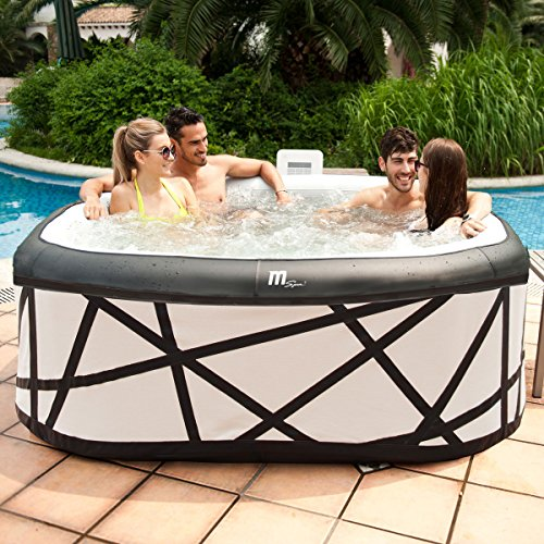 whirlpool in outdoor pool bubble spa wellness massage heizung aufblasbar 185x185cm 6 personen. Black Bedroom Furniture Sets. Home Design Ideas